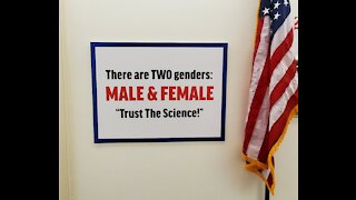 "Marjorie Taylor Greene Hangs ""There Are Only Two Genders"" Sign Outside Her Office"