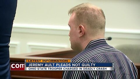 Trooper charged in deadly crash pleads not guilty