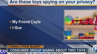 Consumer group warns parents about two toys - Video