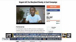 College student supplies air for all - Video