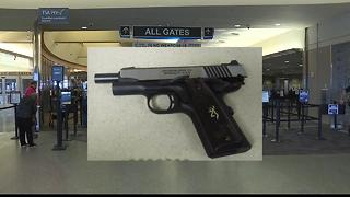 Guns found in carry-on bags at the Boise Airport up 75% for the year - Video