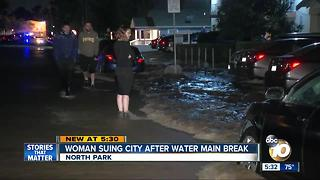 North Park woman suing San Diego after water main break - Video