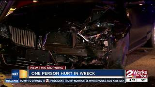 One person sent to hospital after two car accident - Video