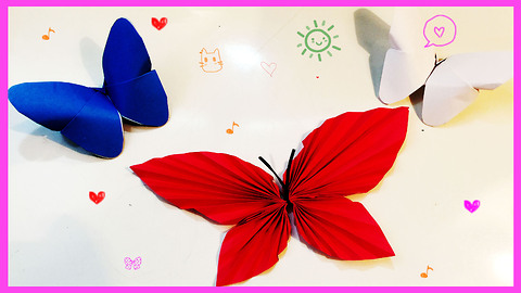 How to make origami butterflies from paper