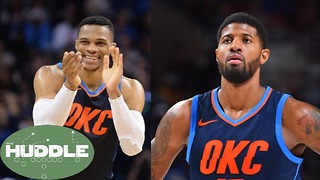Russell Westbrook PROMISES Paul George a Championship -The Huddle - Video