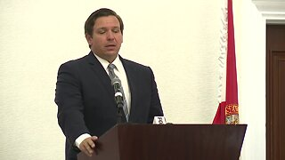 Governor Ron DeSantis speaks at the Florida Citrus Mutual conference