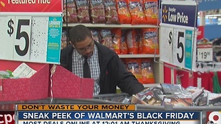 Sneak peek of Wal-Mart's Black Friday - Video