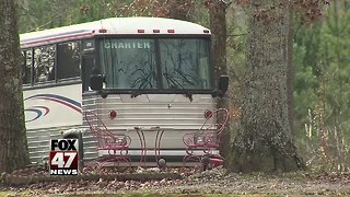 1 child killed, 40 others injured in bus crash