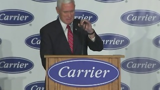 Vice president-elect Mike Pence announces jobs are staying in Indianapolis at Carrier plant - Video
