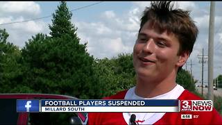 Millard South football players