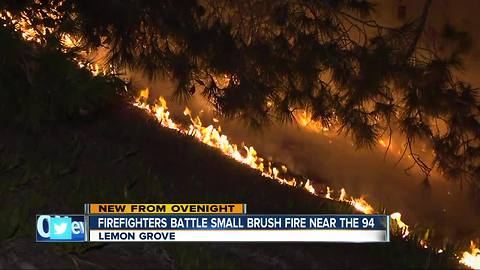 Firefighters make quick work of brush fire off SR-94