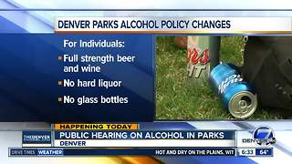 Do you want more alcohol in Denver parks? City seeks public input on alcohol policy - Video