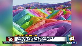 Rainbow mountains in California?