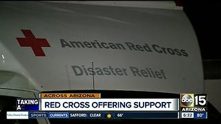Red Cross offering support to wildfire victims - Video