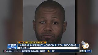 Arrest in deadly Horton Plaza shooting - Video
