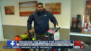 An India native is traveling the world by bike, started world tour on November 10, 2014 - Video