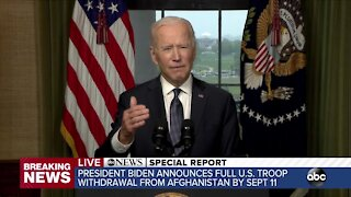 Biden outlines plan to withdraw US troops from Afghanistan by September 11
