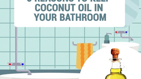 6 reasons to keep coconut oil in your bathroom
