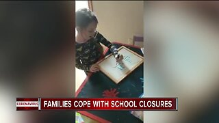 Families cope with school closures