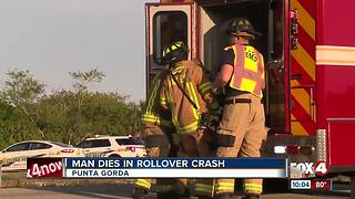 1 Dead in Punta Gorda Rollover Crash - Video
