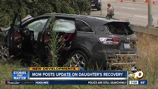 Mom posts update on daughter involved in La Mesa big rig crash - Video