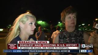 Witnesses describe sounds of gunshots, people running scared in Las Vegas - Video