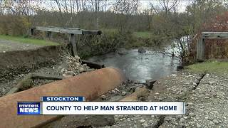 Flooding leaves Stockton man stranded in home--day 2 - Video