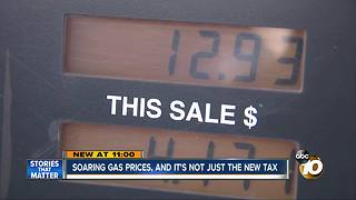 Soaring gas prices, and it's not just the new tax - Video
