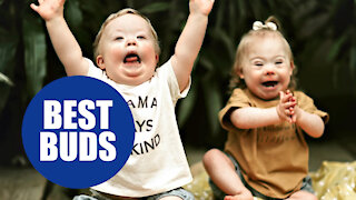 Adorable toddlers with Down Syndrome become best friends
