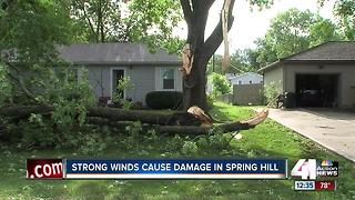 Strong winds cause damage in Spring Hill
