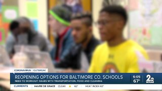 Reopening options for Baltimore Co. schools
