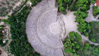 Drone captures unprecedented beauty of ancient Greek theatre
