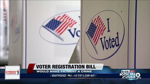 Arizona bill would restrict payments for registering voters