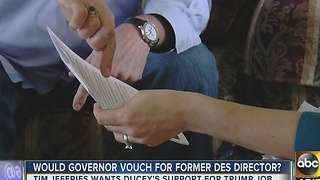 Would Arizona Governor vouch for former DES director?