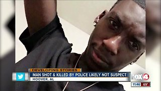 Man shot and killed by police likely not suspect