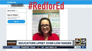 Phoenix-area teachers plan walkout Wednesday over low pay - Video