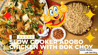 Slow cooker adobo chicken with bok choy recipe