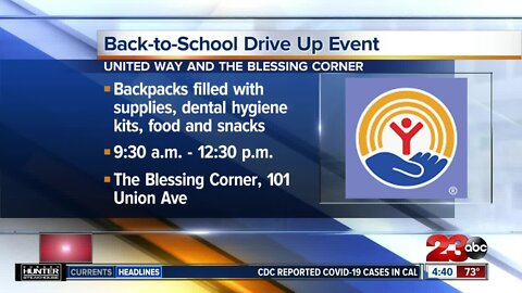 Back-to-school drive up event