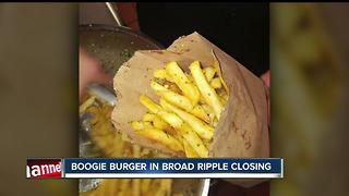 Boogie Burger in Broad Ripple closed - Video