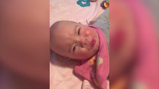A Baby Girl Makes A Mad Face On Command - Video