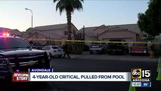 Child hospitalized after being pulled from Avondale pool - Video