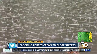 Numerous streets closed as rain leads to flooding