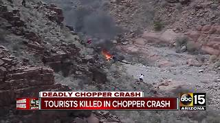 Victims from Grand Canyon helicopter crash identified - Video