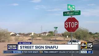 El Mirage residents puzzled by misspelled street sign - Video