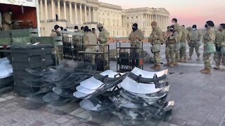 Washington DC is Now Under Military Occupation - U.S. Capitol On Lockdown By Military