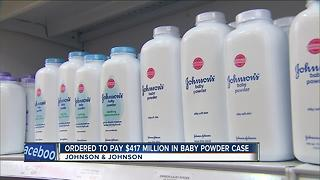 Johnson & Johnson ordered to pay $417 million in talcum powder case - Video
