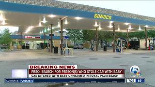 Vehicle with infant stolen from suburban West Palm Beach gas station - Video