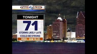 Evening storms possible