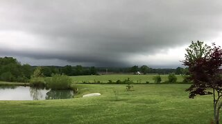 Storm Clouds Roll Across Sky in Marmaduke, Arkansas, as Tornado Warnings Issued