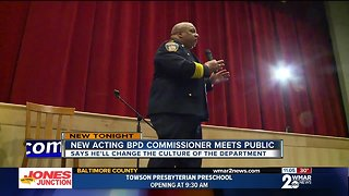 Harrison spends first night as acting commissioner with people of Northwest Baltimore - Video